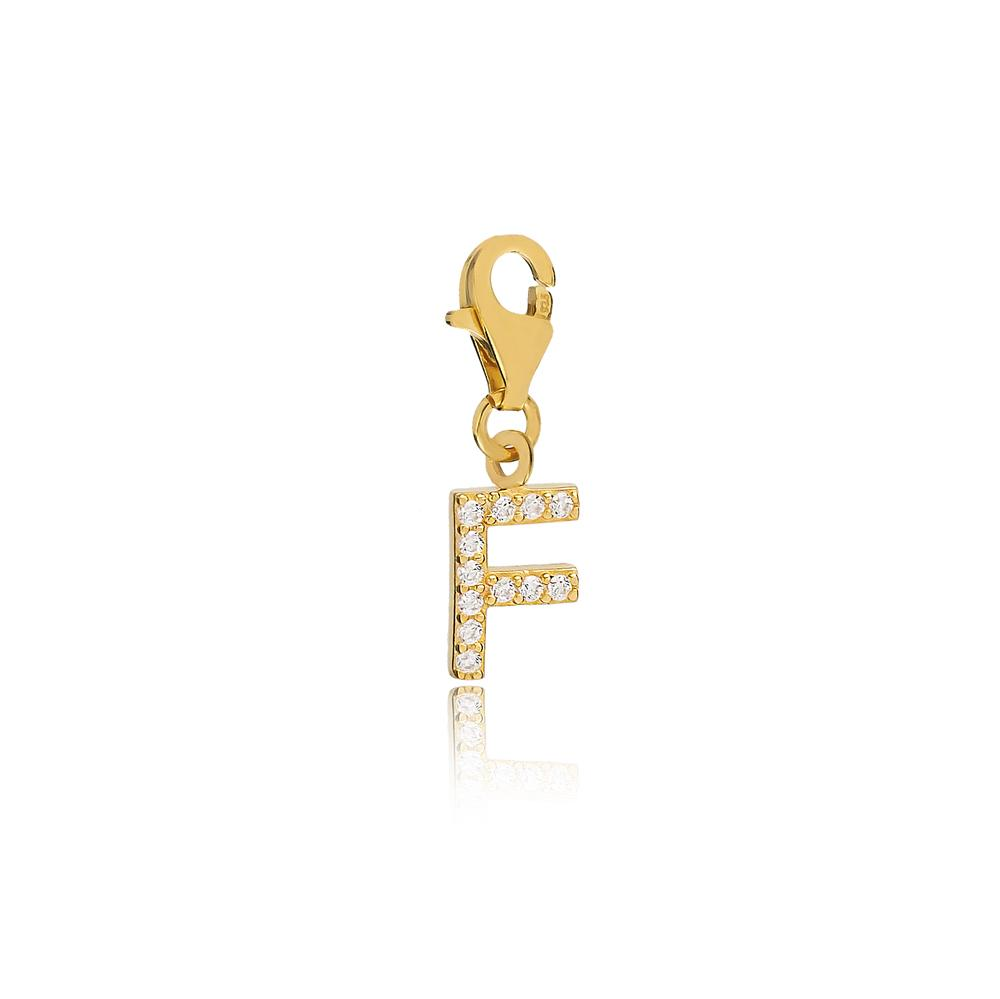 F Letter Charm Wholesale Handmade Turkish 925 Silver Sterling Jewelry