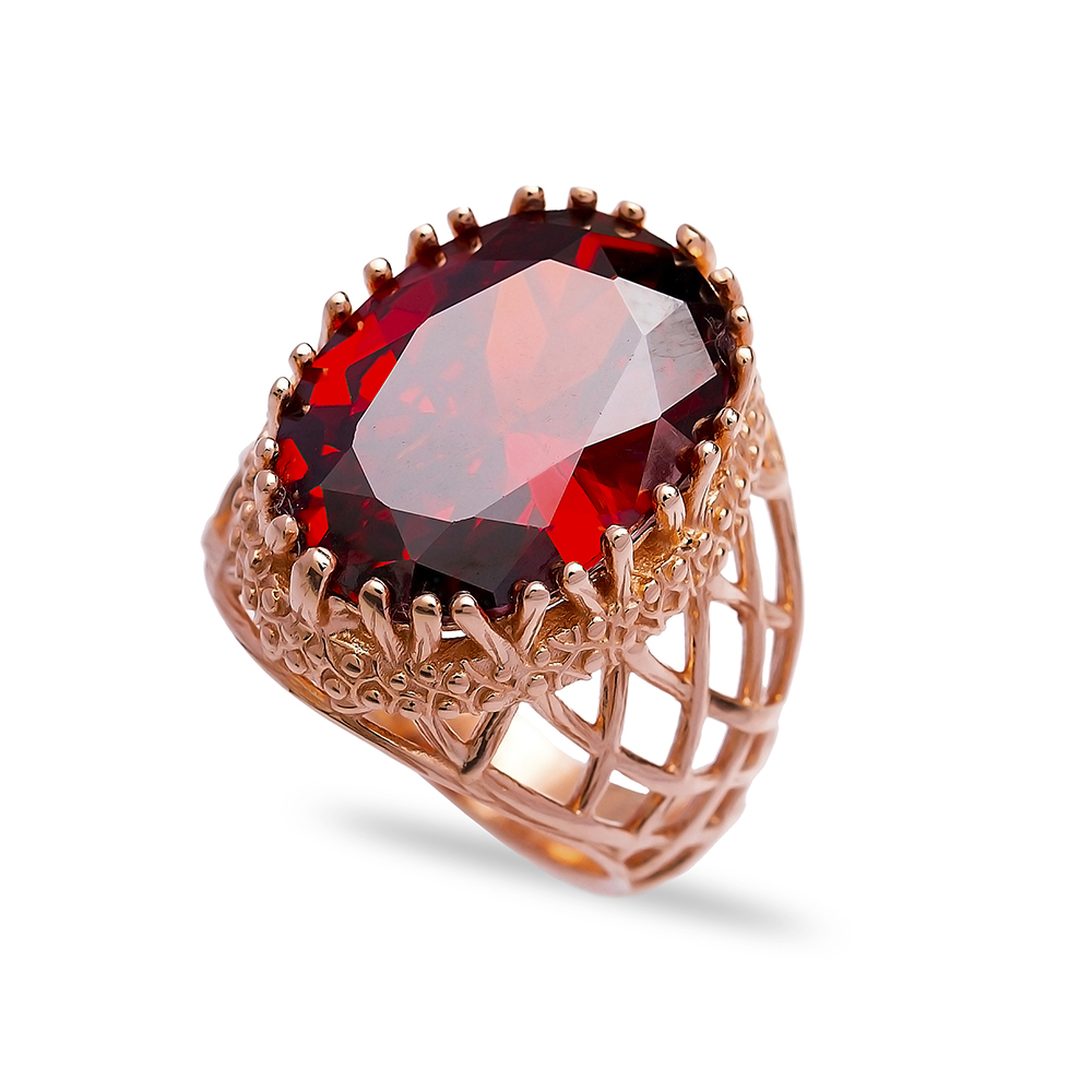 Wholesale Handmade 925  Sterling Silver Garnet Ring