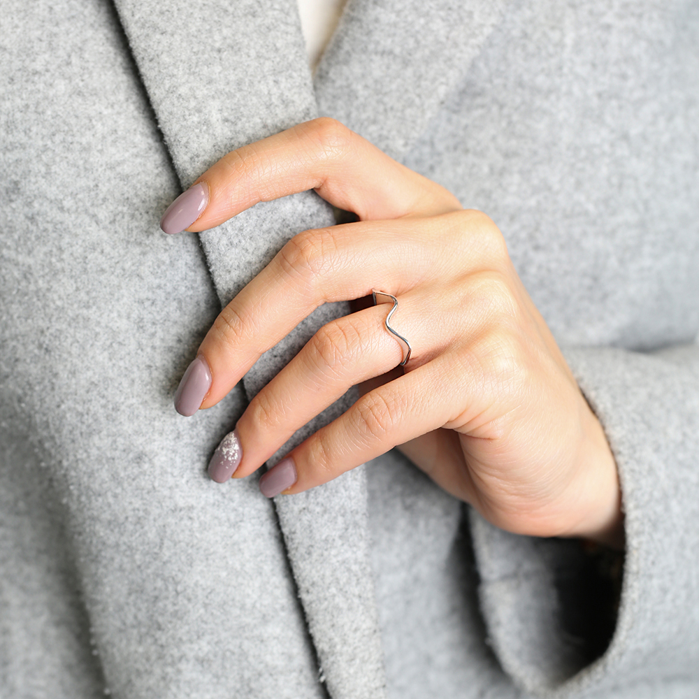Dainty Turkish Wholesale Handcrafted Simple Silver Ring