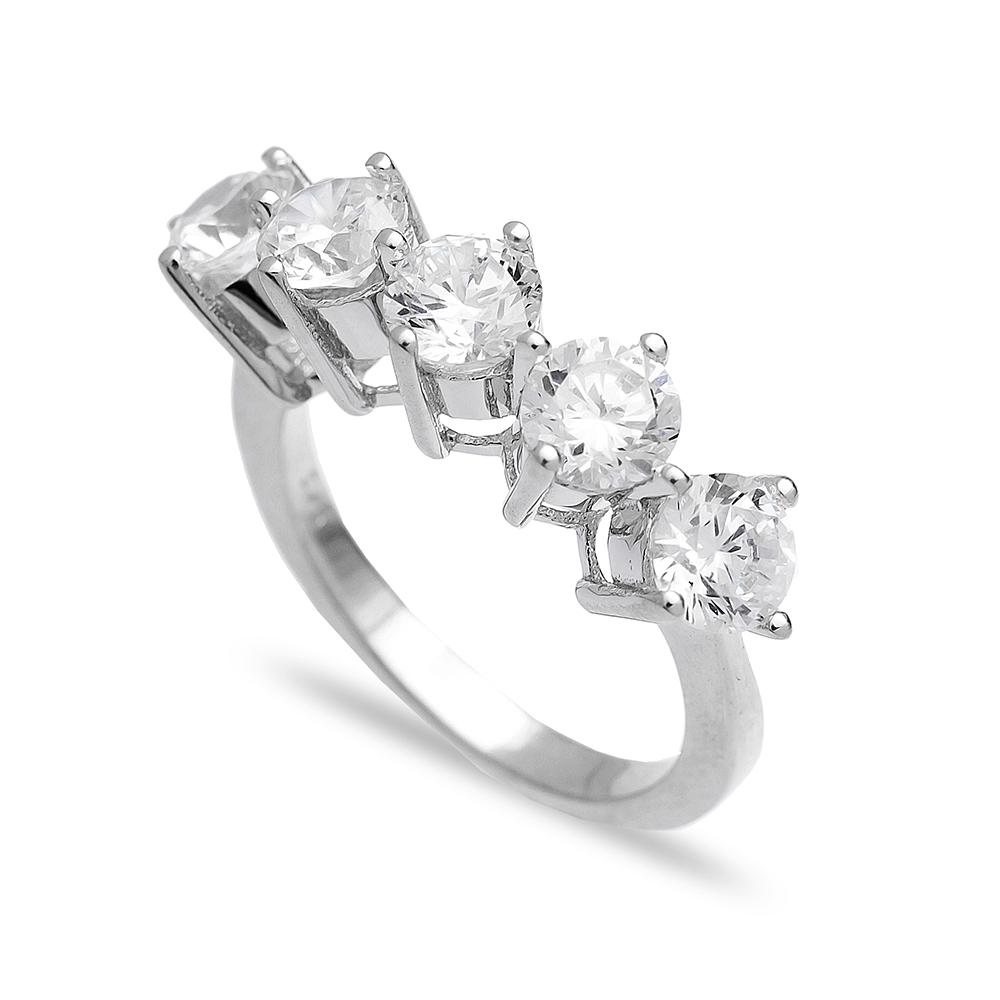 Wholesale Handmade 925  Sterling Silver Zircon Ring