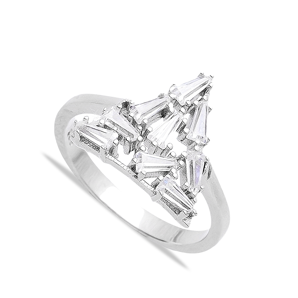Sterling Silver Baguette Ring Turkish Wholesale Handcrafted Silver Jewelry