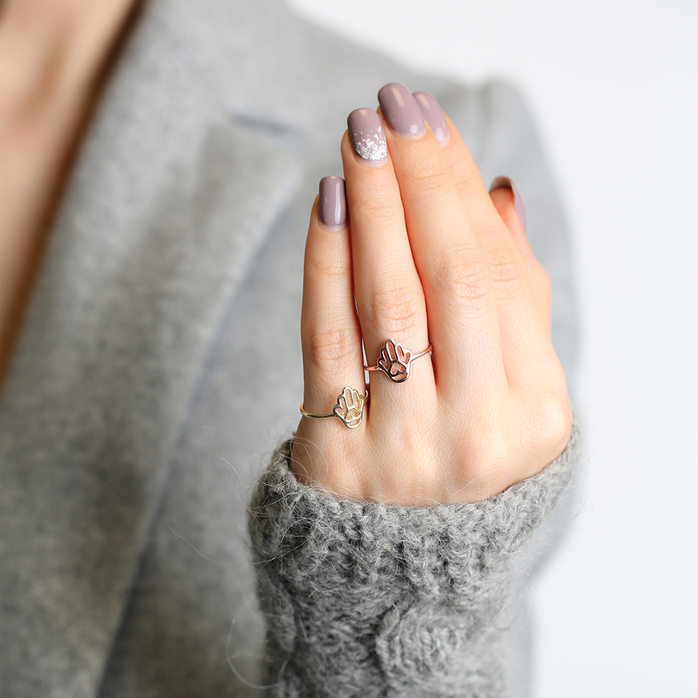Hamsa Design Silver Ring Wholesale Handcrafted Silver Jewelry