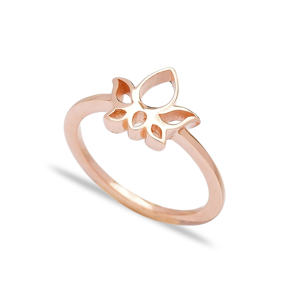 Plain Lotus Ring Wholesale Handcrafted 925 Sterling Silver Jewelry
