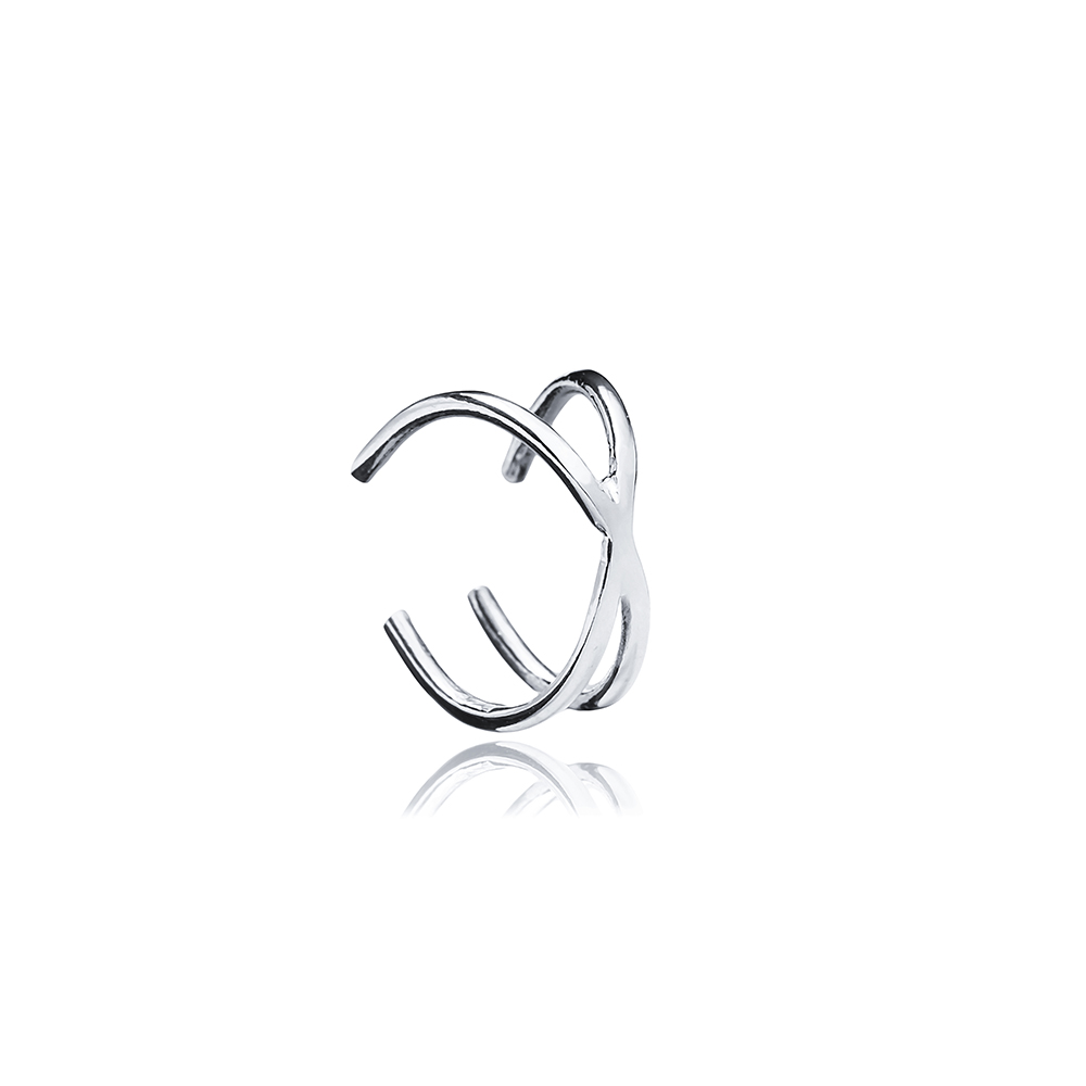 Minimalist Plain Cartilage Earring Handcrafted Wholesale Turkish 925 Silver Sterling Jewelry