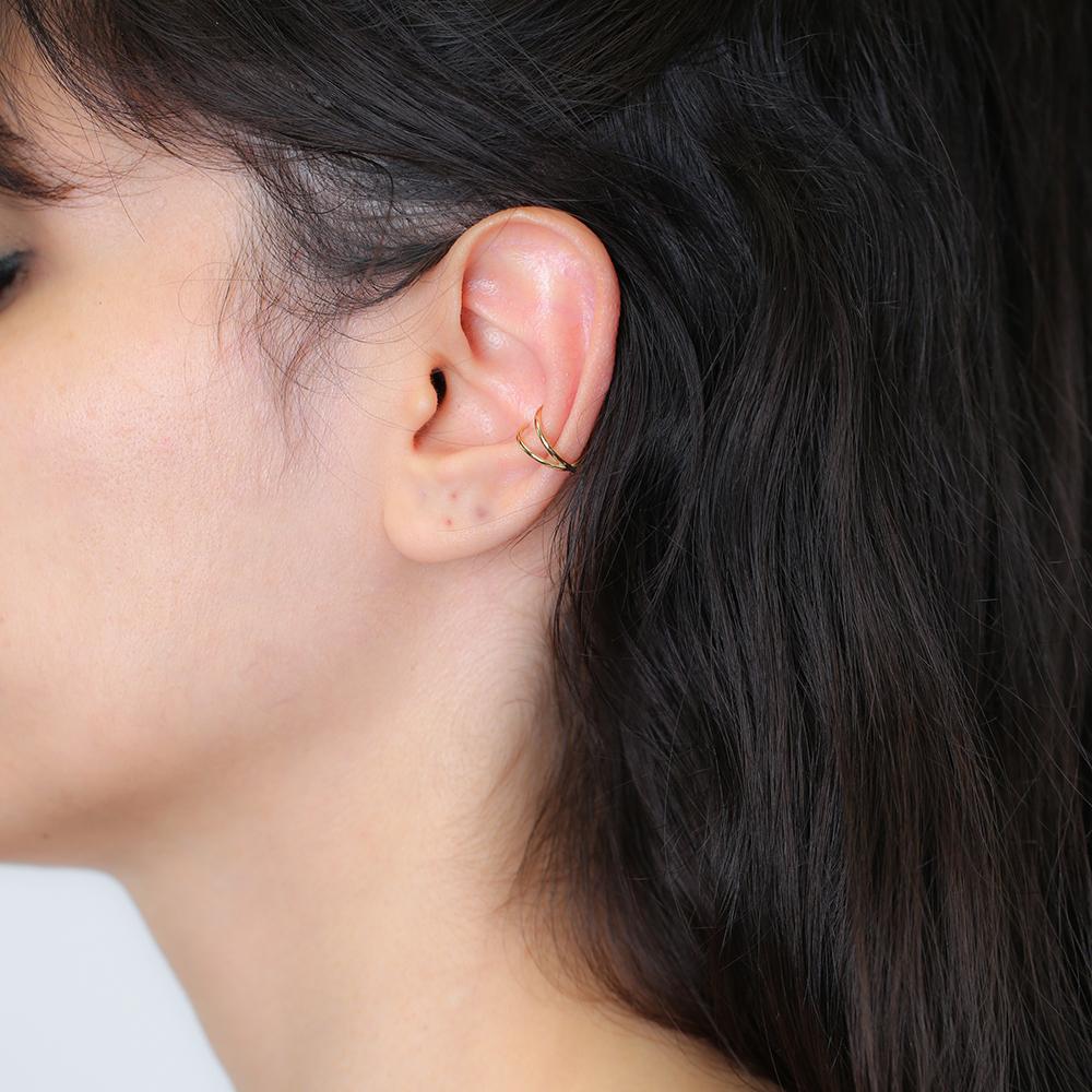 Minimalist Plain Cartilage Earring Wholesale Turkish 925 Silver Sterling Jewelry