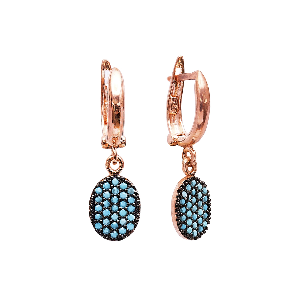 Nano Turquoise Turkish Wholesale Handcrafted Silver Earring