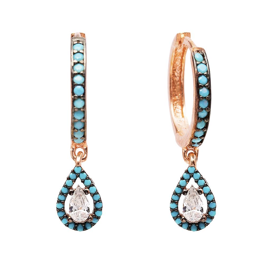 Drop Dangle Earrings Turkish Wholesale Handmade Sterling Silver Earring