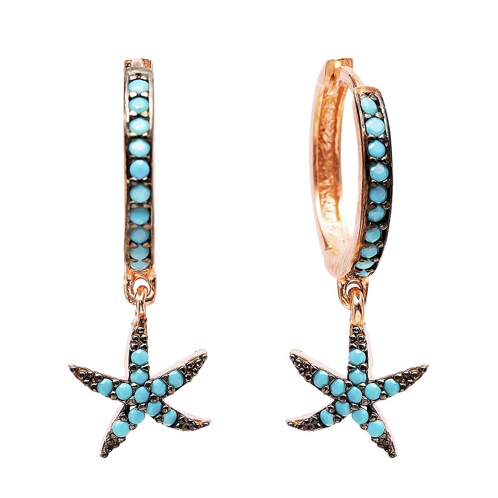 Dangle  Earrings Starfish Turkish Wholesale Handmade Sterling Silver Earring