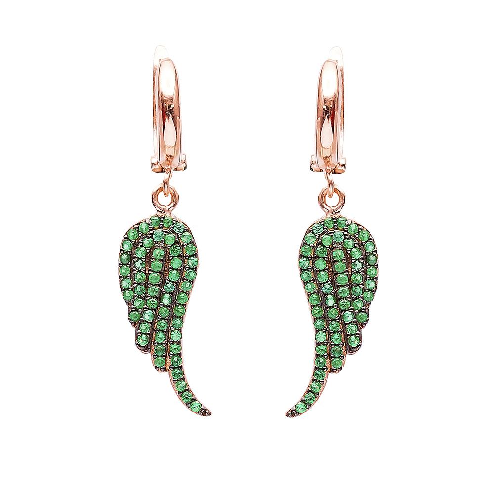 Wing Dangle Clip On Earrings Turkish Wholesale Sterling Silver Earring