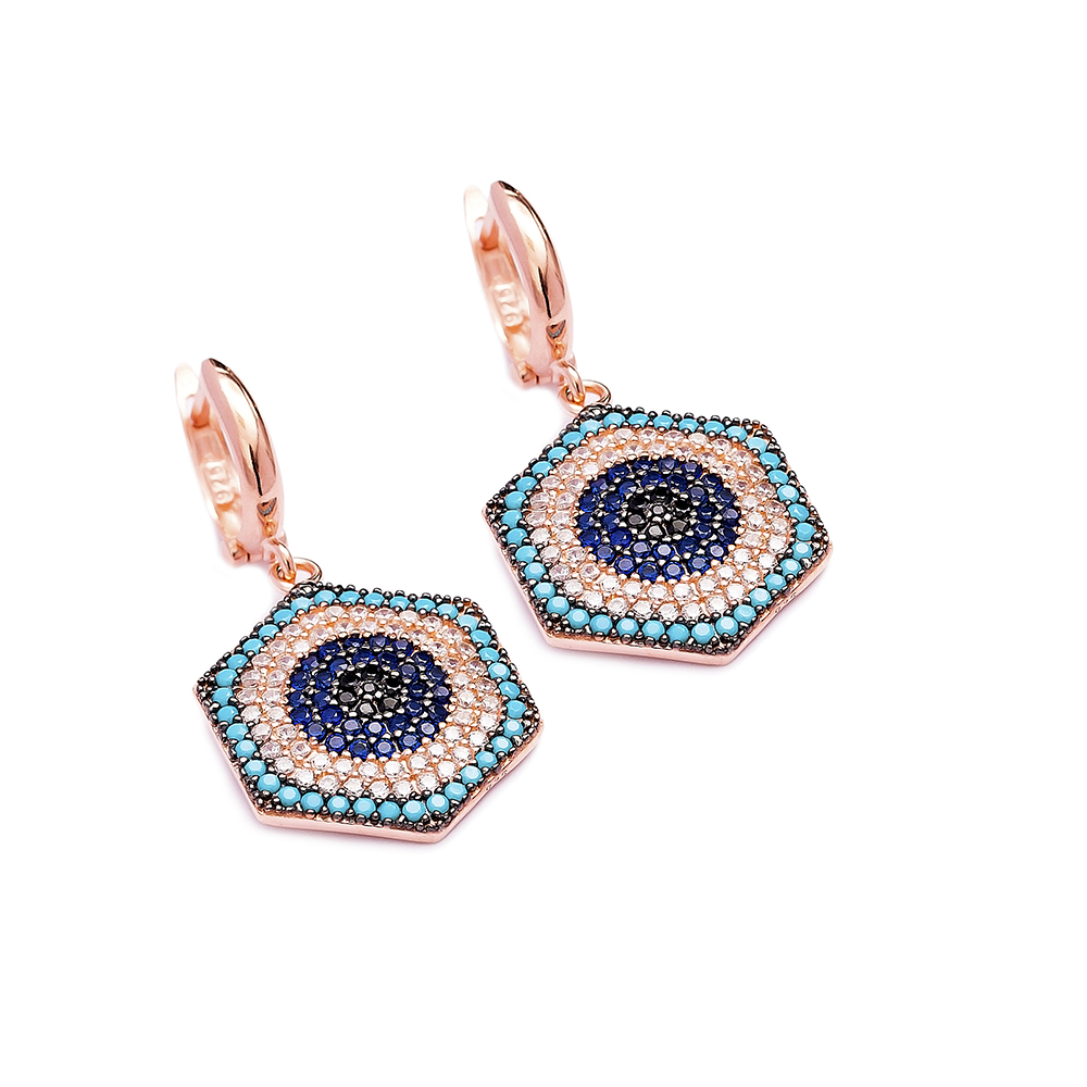 Evil Eye Earrings Turkish Wholesale 925 Sterling Silver Earring