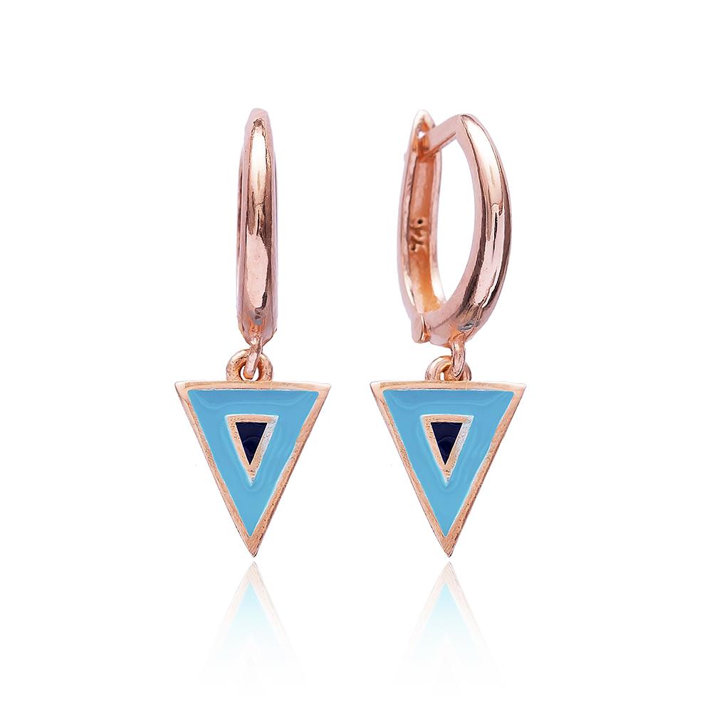 Enamel Evil Eye Clip On Earrings Wholesale 925 Sterling Silver Jewelry