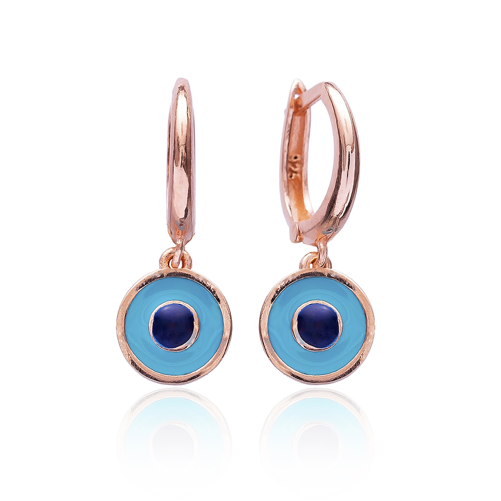 Evil Eye Enamel Clip On Earrings Wholesale 925 Sterling Silver Jewelry