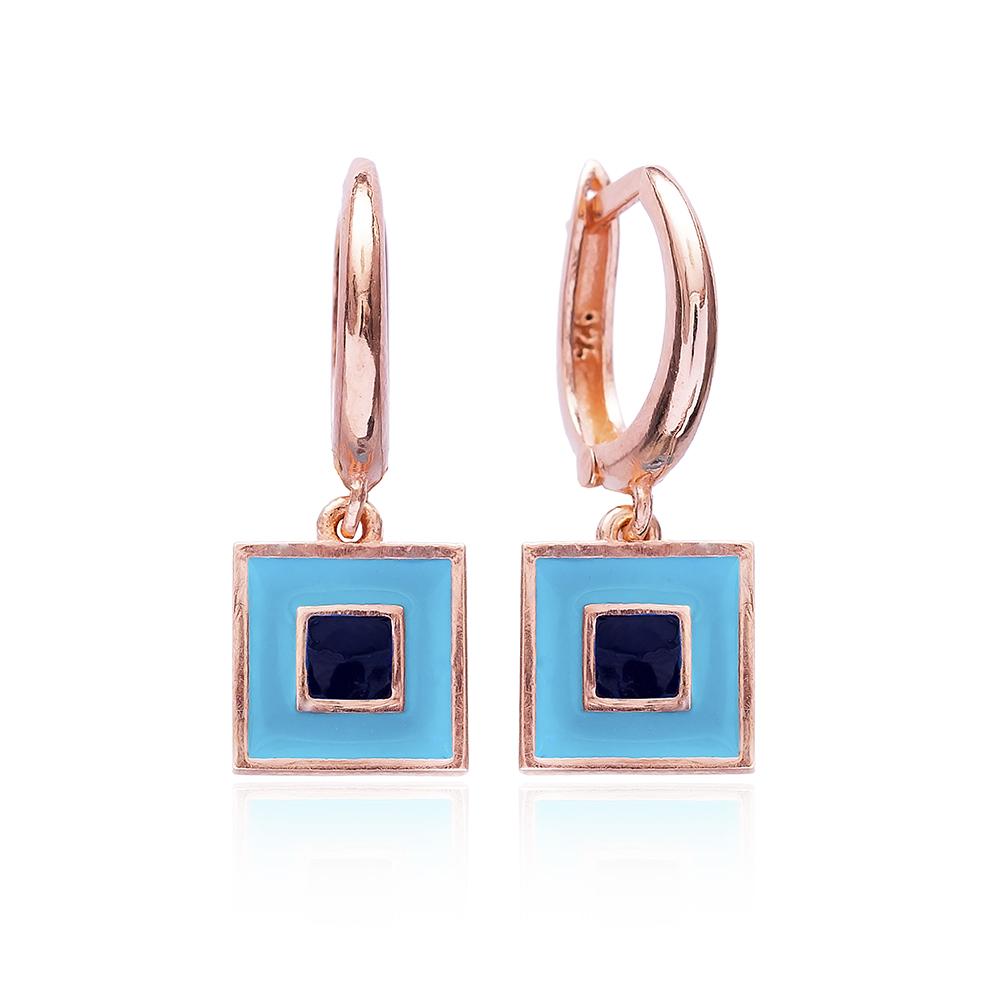 Enamel Clip On Earrings Wholesale 925 Sterling Silver Evil Eye Jewelry