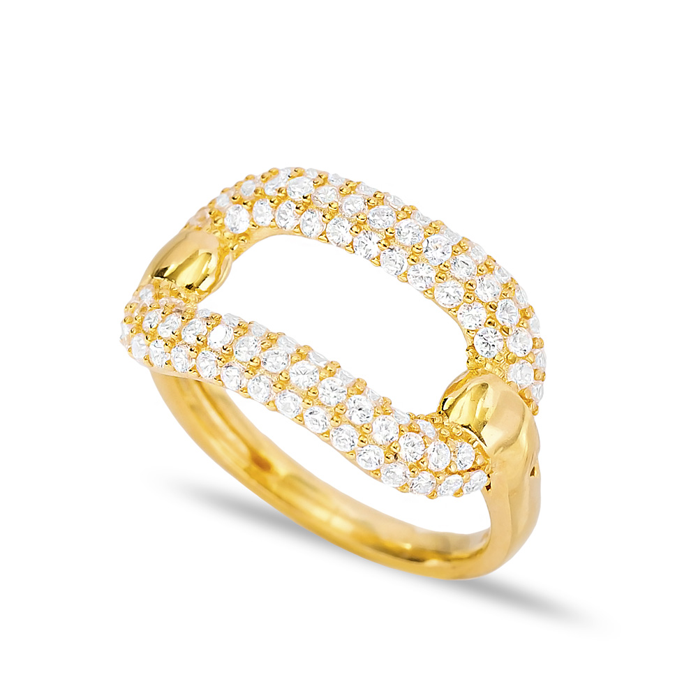 Minimalist Dainty Micro Pave Zircon Ring Wholesale Handcrafted Silver Jewelry
