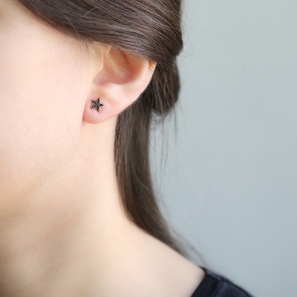 Star Design Stud Earring Wholesale Handcrafted Sterling Silver Earring