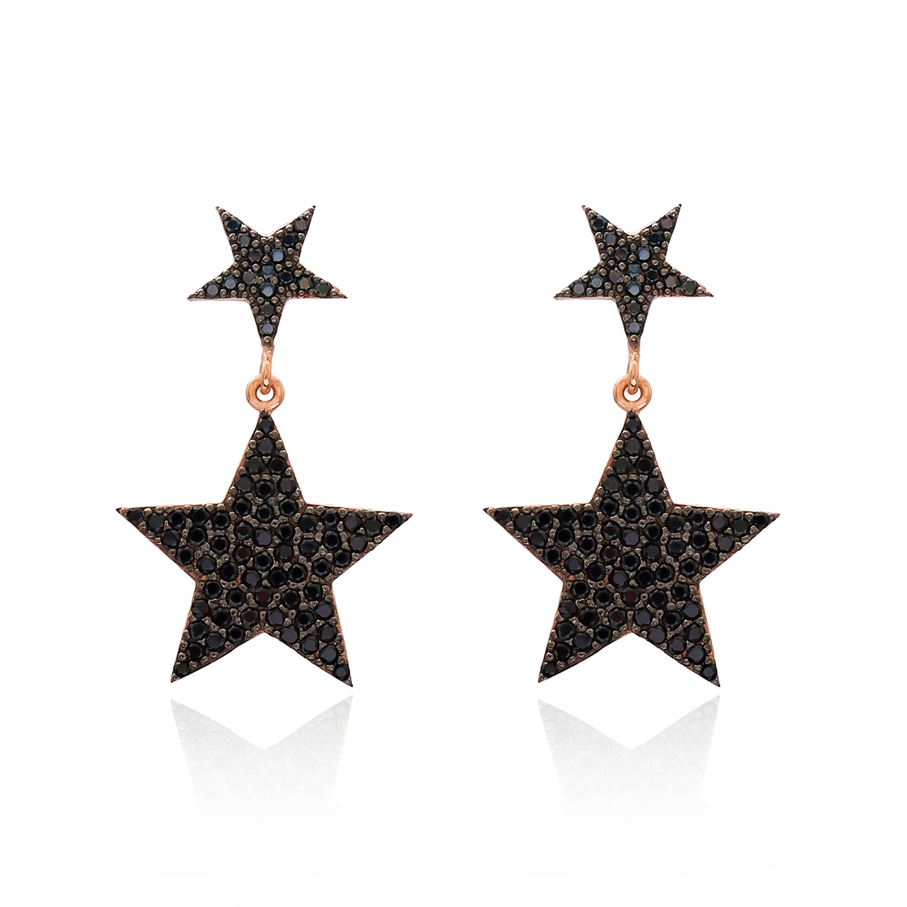 Turkish Wholesale Handcrafted Star Silver Bridal Earring