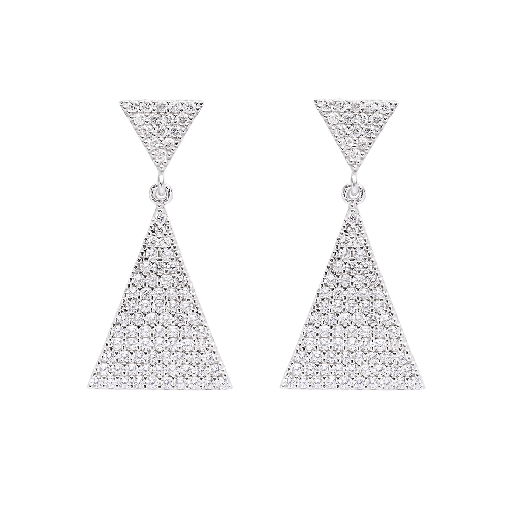 Turkish Wholesale Handcrafted Silver Bridal Earring