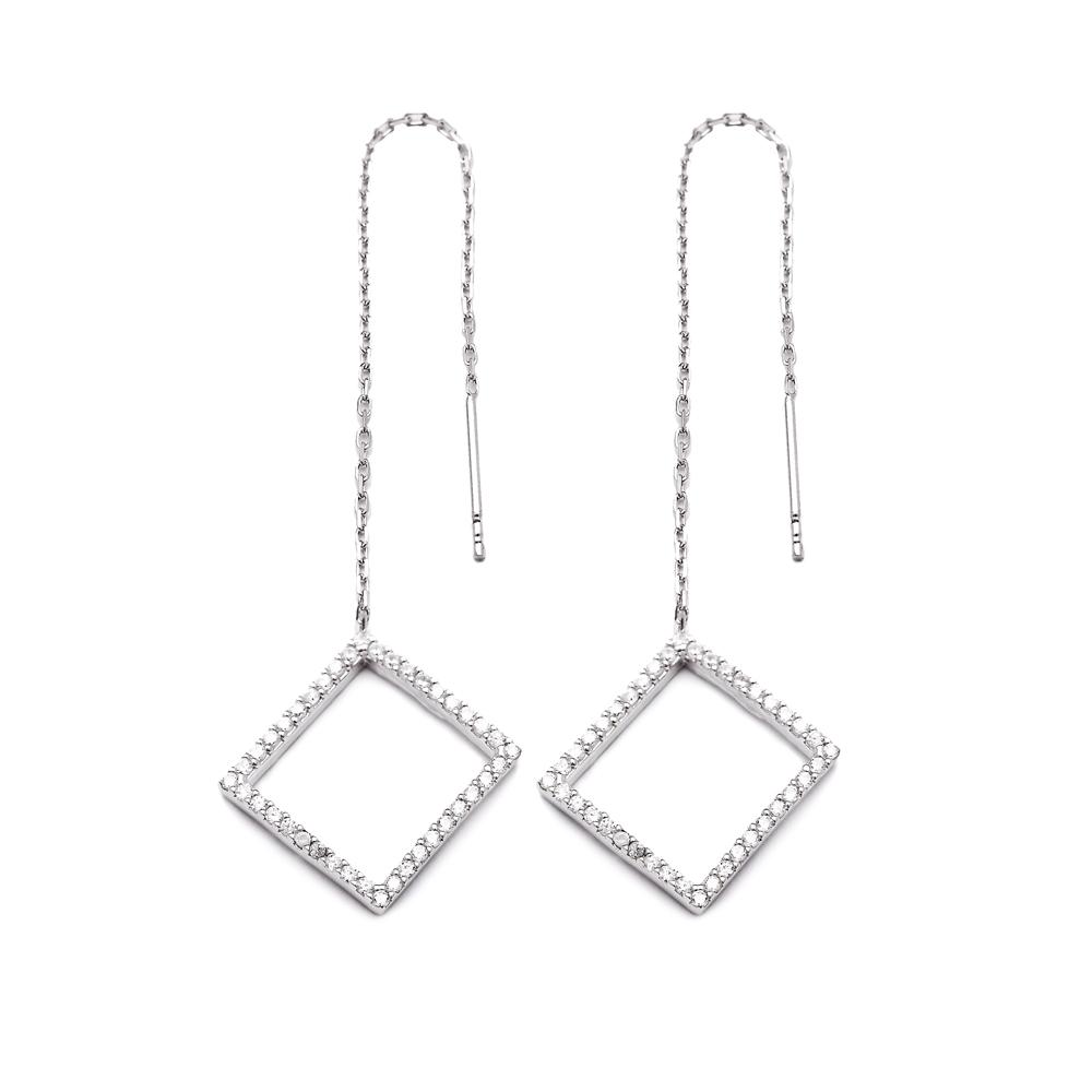 Sterling Silver Ear Thread Earrings Turkish Wholesale Sterling Silver Chain Earring