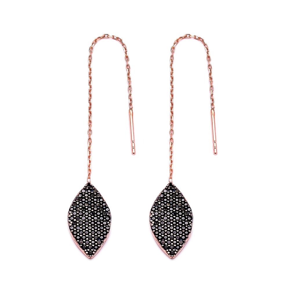 Sterling Silver Ear Thread Earrings Turkish Wholesale Sterling Silver Chain Earrin