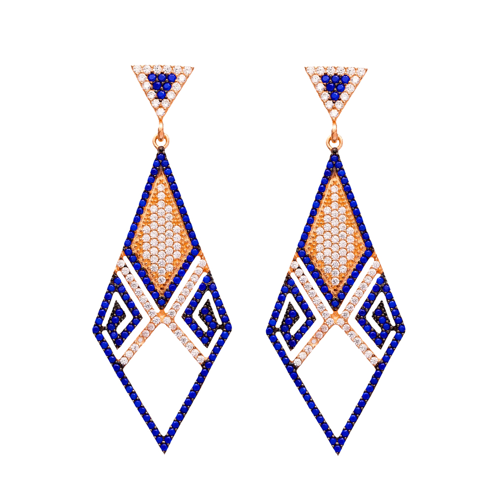 Delicate Chandelier Earrings Turkish Wholesale 925 Sterling Silver Jewelry