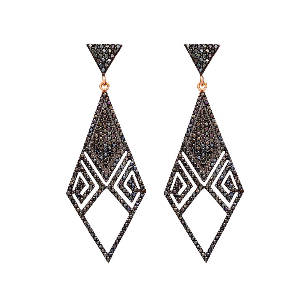 Delicate Chandelier Earrings Turkish Wholesale 925 Sterling Silver Jewelry