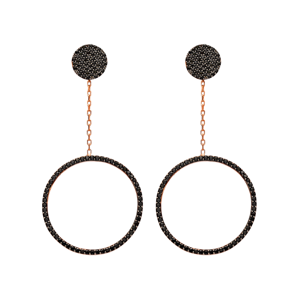 Circle Dangle Earring Wholesale Turkish Sterling Silver Earring