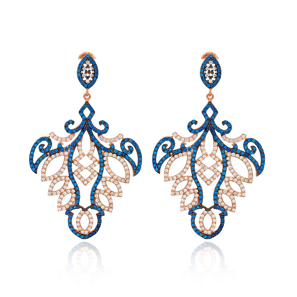 Sterling Silver Chandelier Earring Wholesale Handmade Turkish 925 Silver Sterling Jewelry