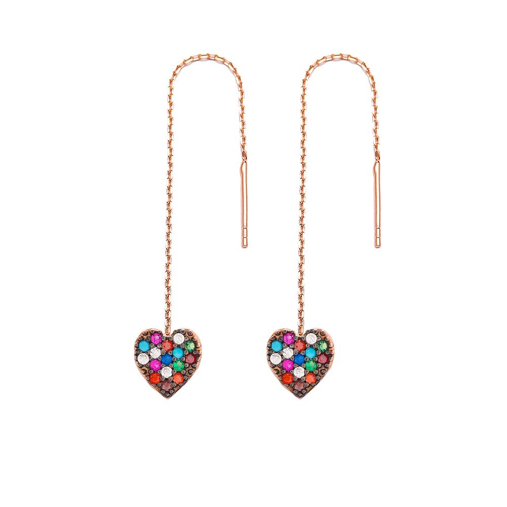 Minimal Heart Silver Earring Wholesale 925 Sterling Silver Jewelry
