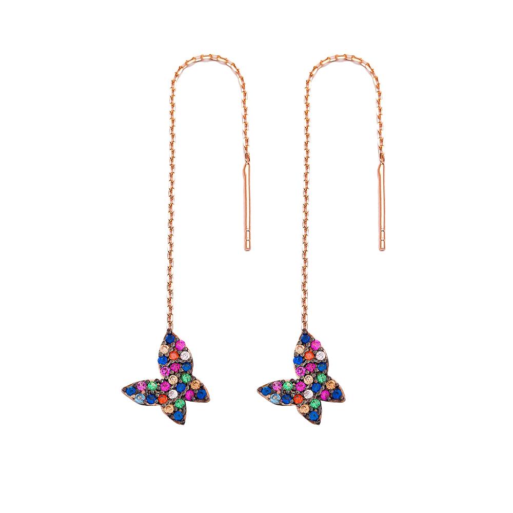 Minimal Butterfly Silver Earring Wholesale 925 Sterling Silver Jewelry