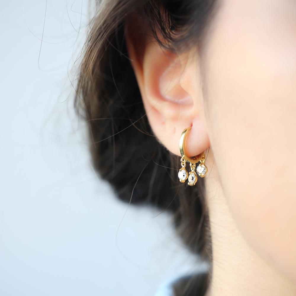 Dainty Hoop Silver Earrings Turkish Wholesale 925 Sterling Silver Jewelry