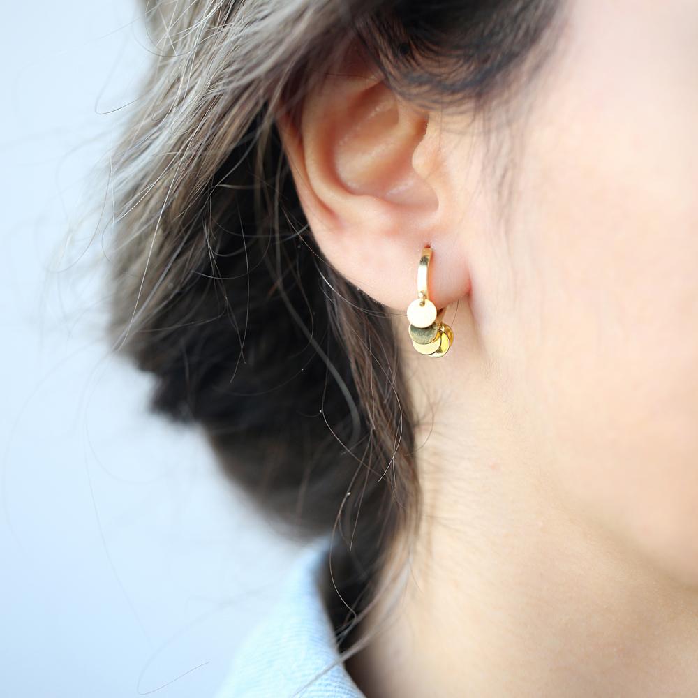 Turkish Hoop Earrings Handmade Wholesale 925 Sterling Silver Jewelry