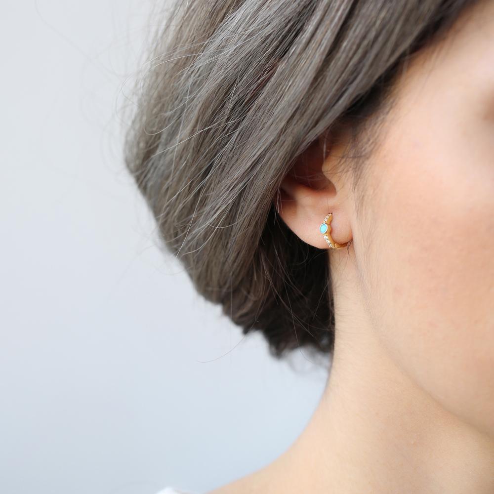 Hoop Earrings Turkish Wholesale 925 Sterling Silver Jewelry