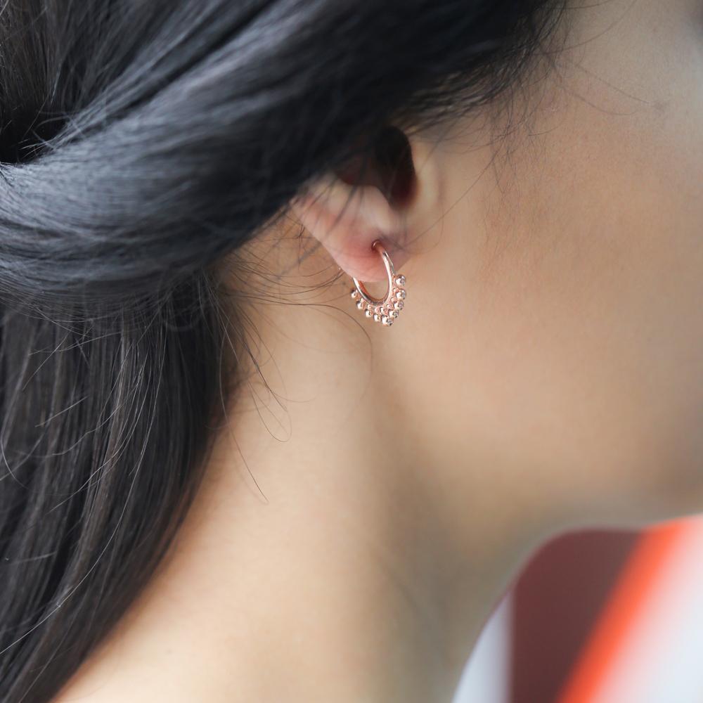 Dainty Hoop Earrings Turkish Wholesale Handmade 925 Sterling Silver Jewelry