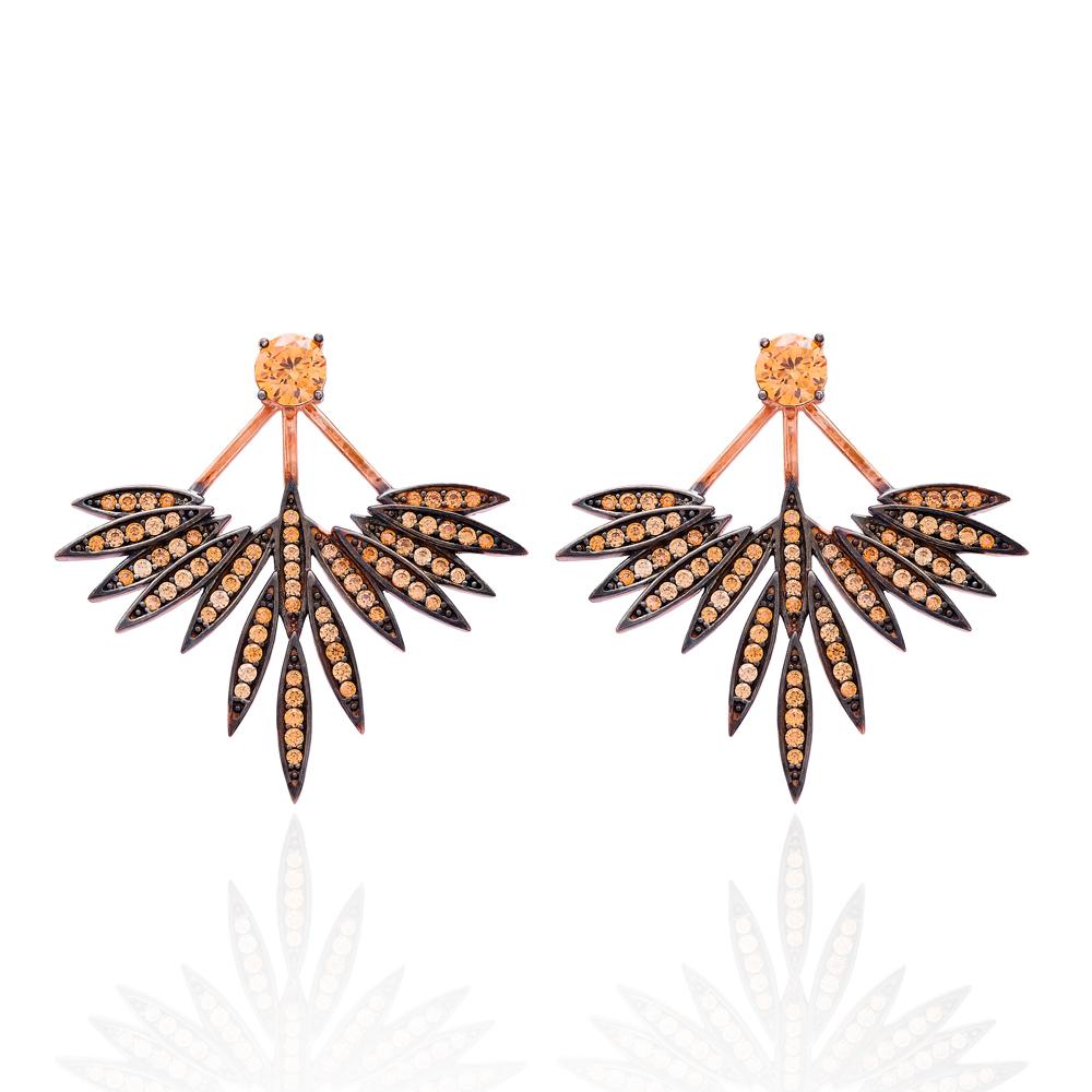 Minimalist Design Earrings Turkish Wholesale 925 Sterling Silver Earring