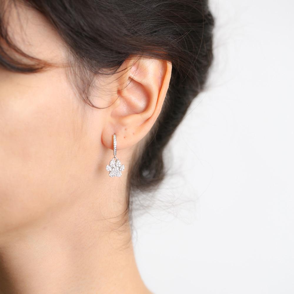 Paw Design Earrings Wholesale Handmade 925 Sterling Silver Jewelry