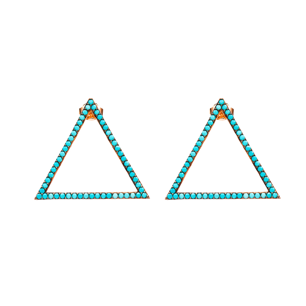 Triangle Dangle Earring Wholesale Turkish Sterling Silver Earring