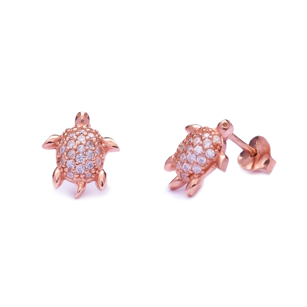 Turtle Sterling Silver Stud Earring Wholesale Handcrafted Silver Earring