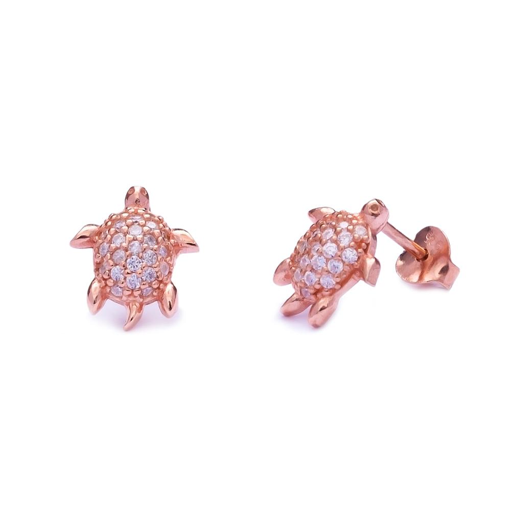 Turtle Sterling Silver Stud Earring Wholesale Handcrafted Silver Earring