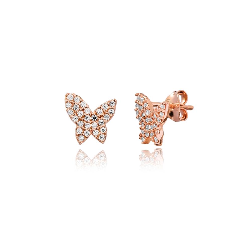 Butterfly Stud Earring Wholesale Handcrafted 925 Sterling Silver Earring