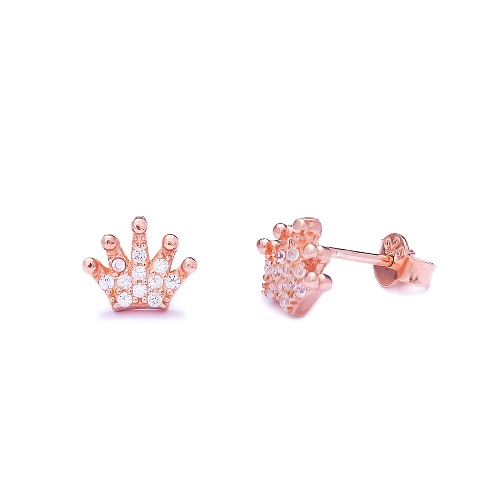 Crown Sterling Silver Stud Earring Wholesale Handcrafted Silver Earring