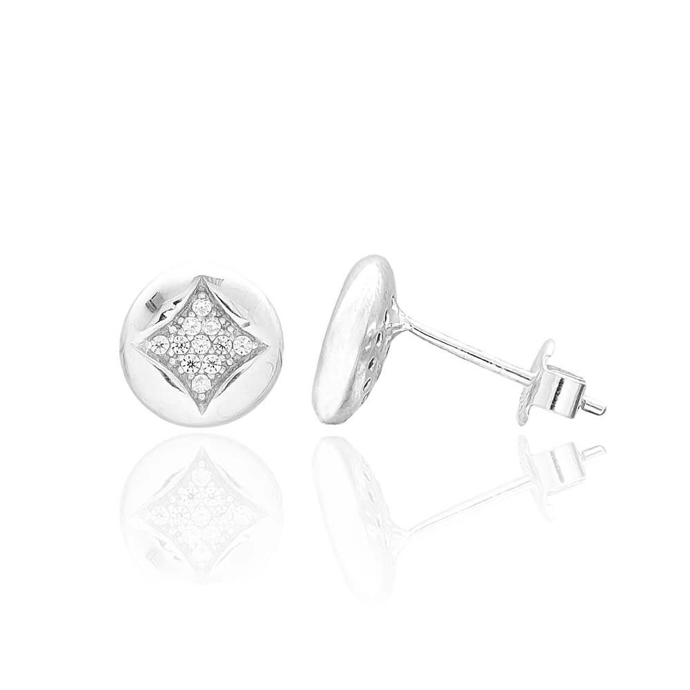 Clover Design Turkish Wholesale 925 Sterling Silver Jewelry Stud Earring