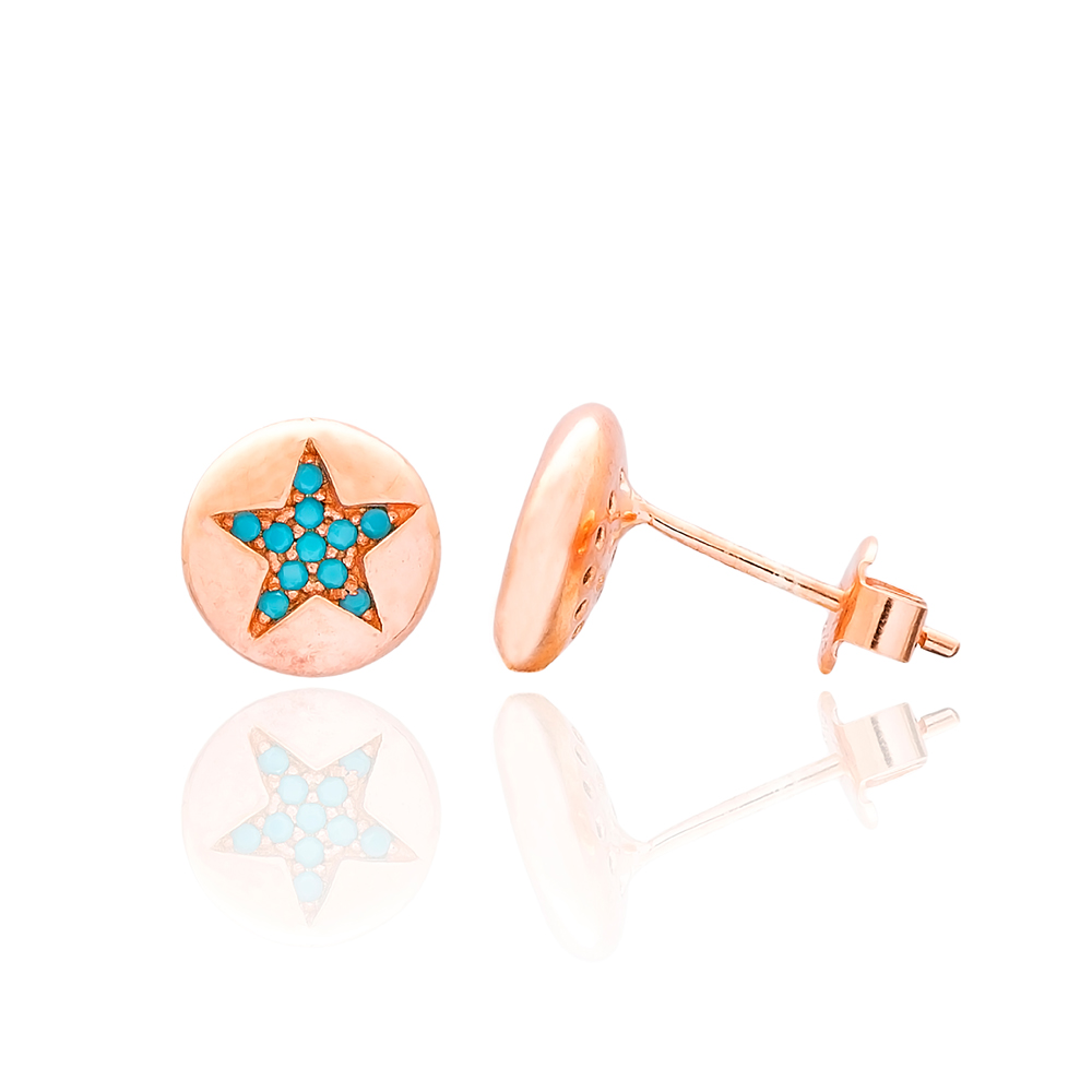 Star Design Turkish Wholesale 925 Sterling Silver Jewelry Stud Earring
