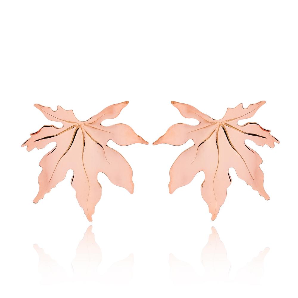 Stud Leaf Earrings Turkish Wholesale Sterling Silver Earring
