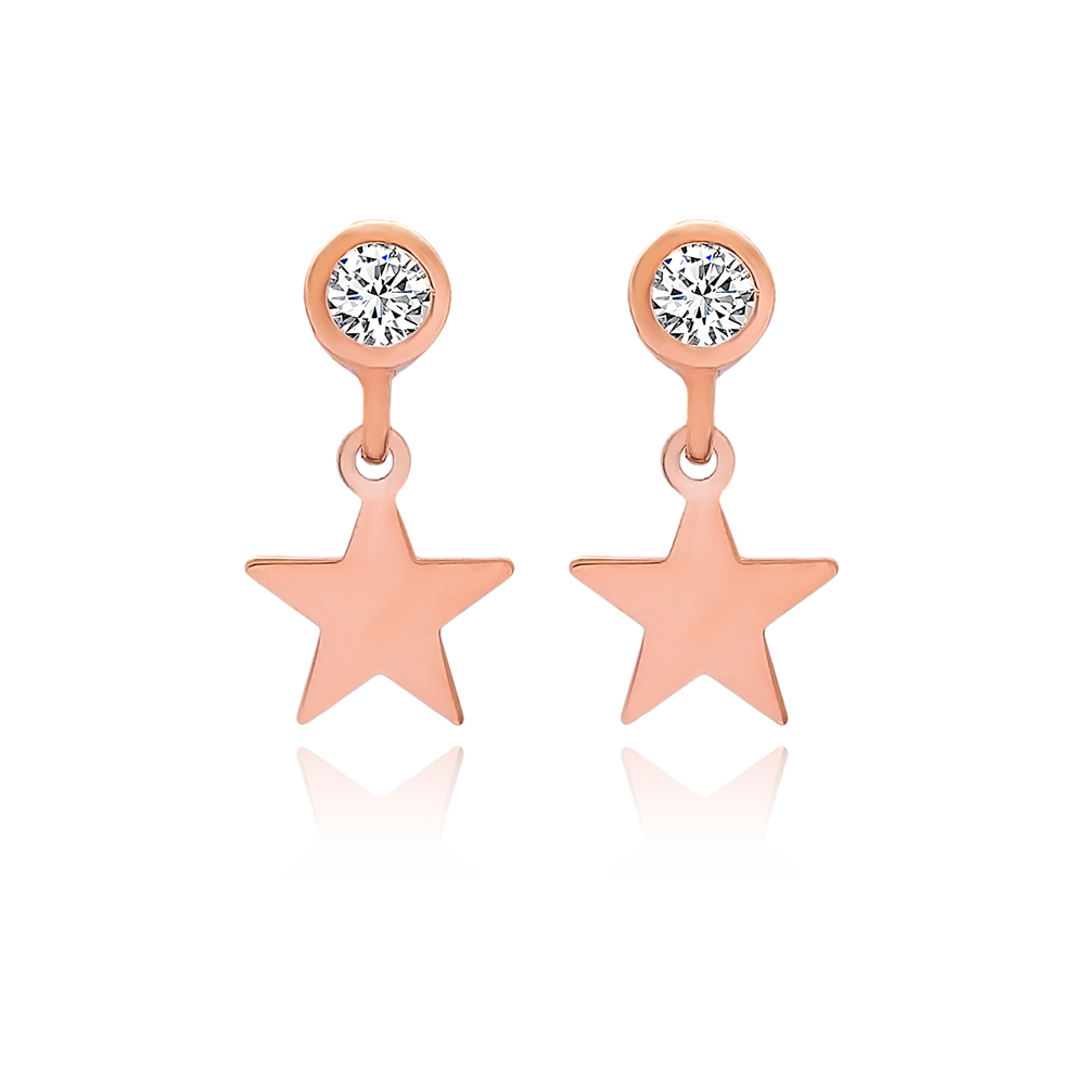 Star Stud Earrings Turkish Wholesale 925 Sterling Silver Jewelry