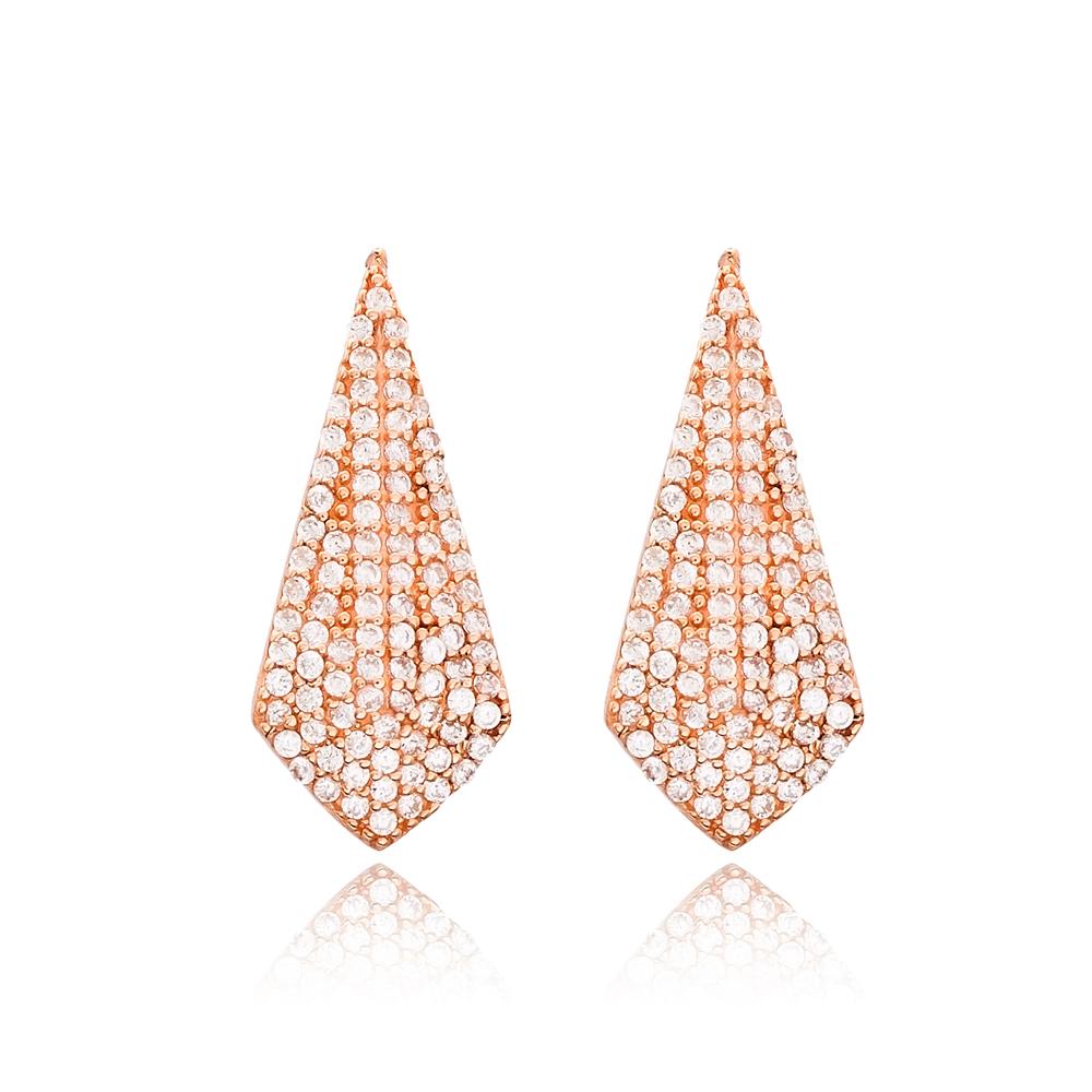 Elegant Design Turkish Wholesale Handmade 925 Sterling Silver Earrings