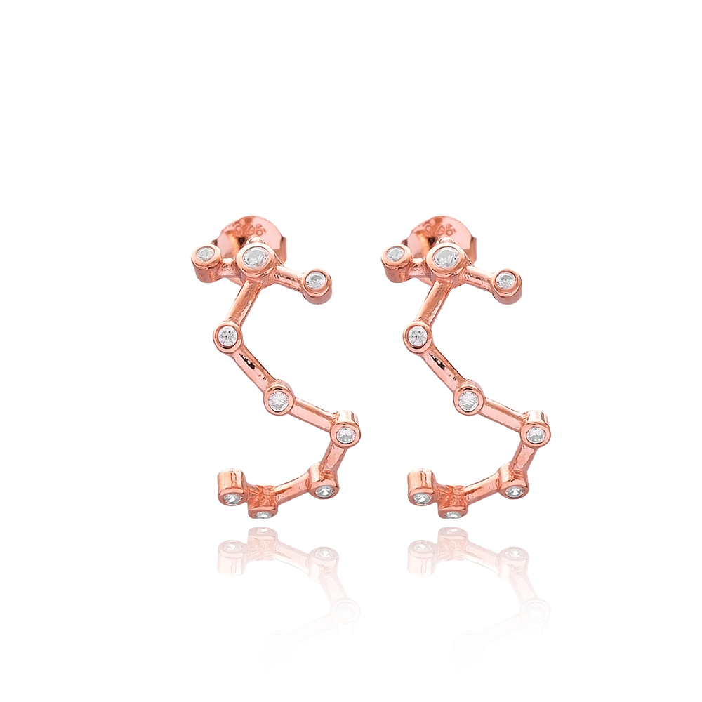 Scorpio Astrology Sign Zodiac Constellation Wholesale 925 Sterling Silver Earring