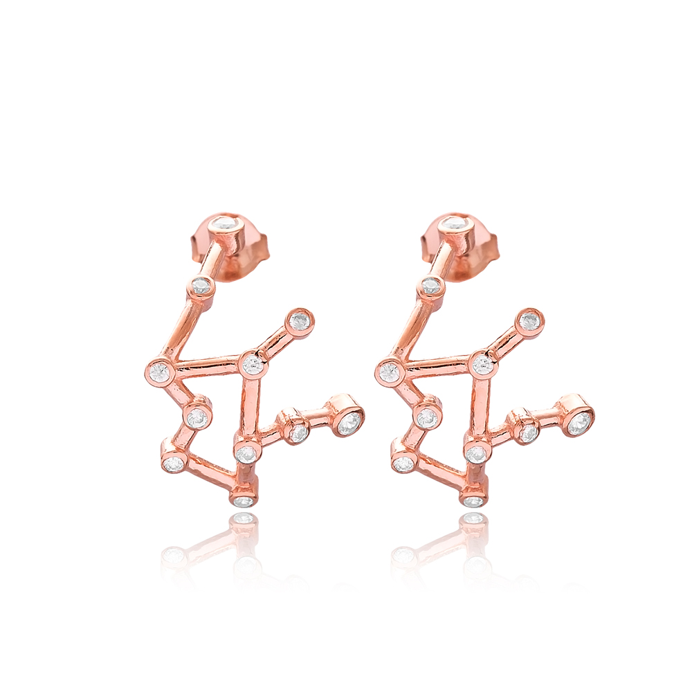 Aquarius Zodiac Constellation Wholesale 925 Sterling Silver Jewelry Earring