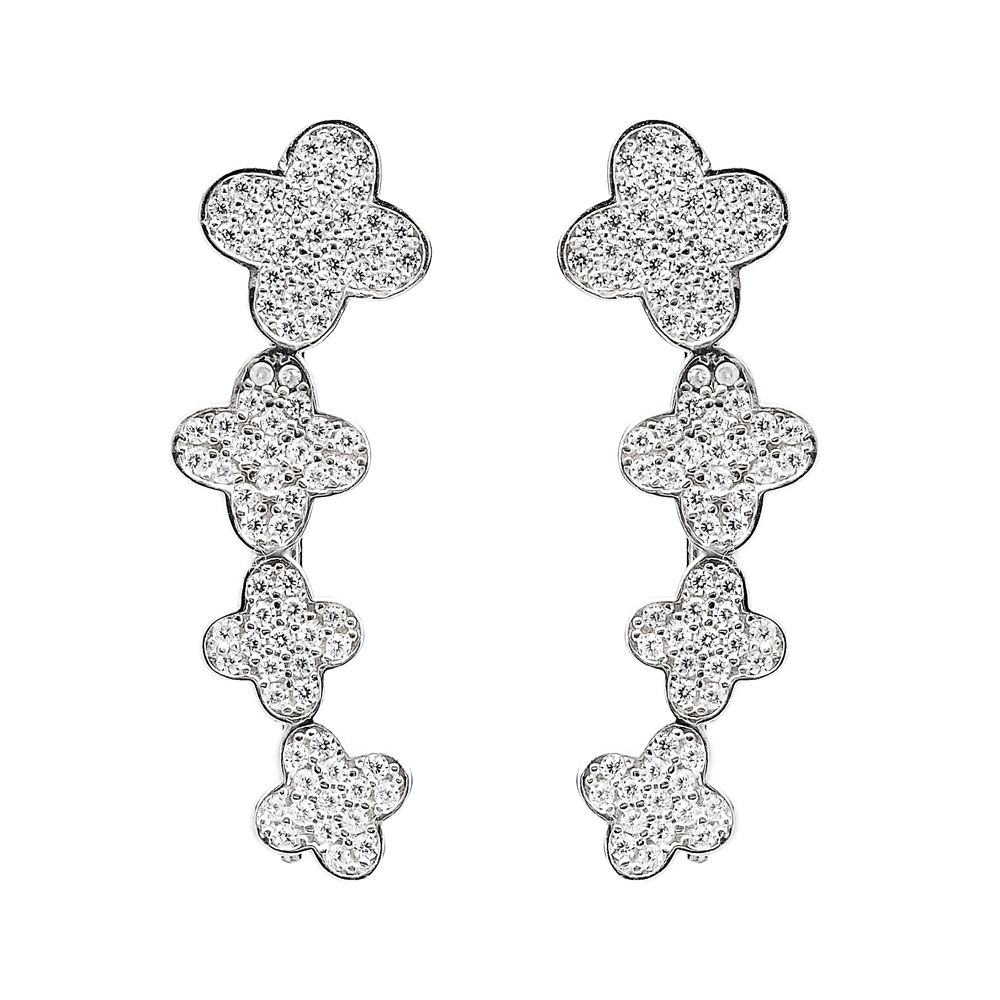 Ear Cuff Turkish Wholesale Handcrafted Clover Silver Earring