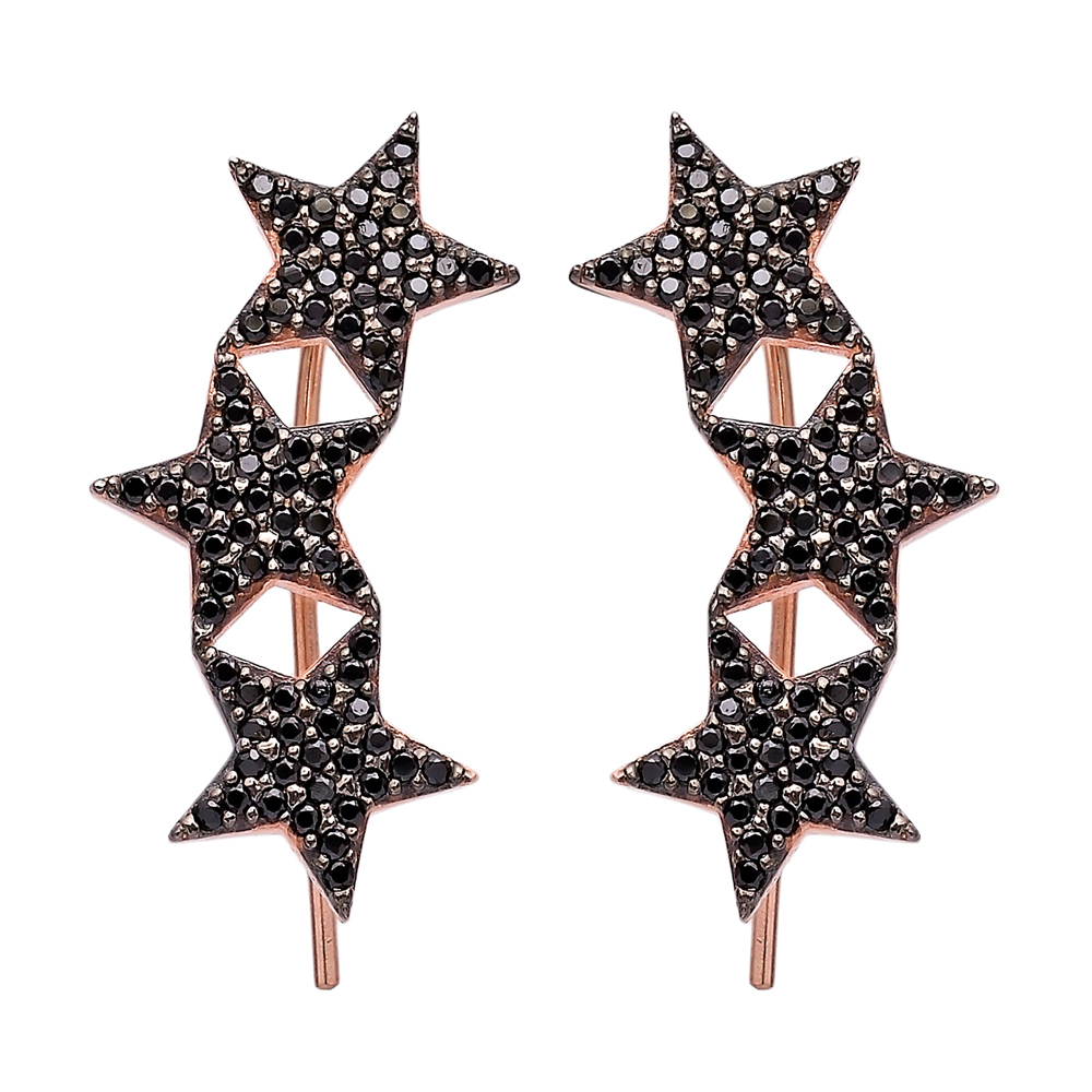 Ear Cuff Turkish Wholesale Handcrafted Star Silver Earring
