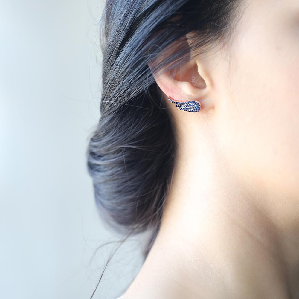 Ear Cuff Wing Earring Turkish Wholesale Handmade Sterling Silver Earring